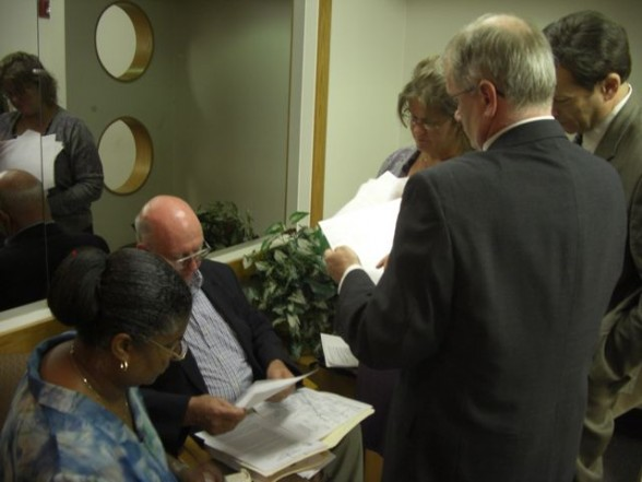 City of Detroit attorneys review documents with Richard Sharland 7-18-12
