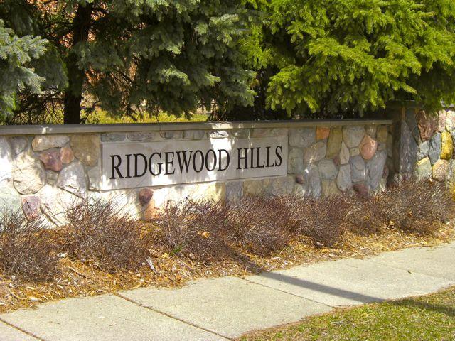 Ridgewood Hills Sub Entrance