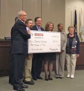 Bosch presents $30,000 gift to Plymouth Township for Park Pavilion in 2012