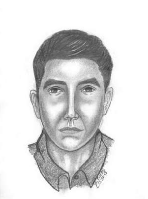 Police Sketch of Suspect in Plymouth Theft