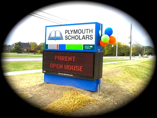 Plymouth Scholars School Sign