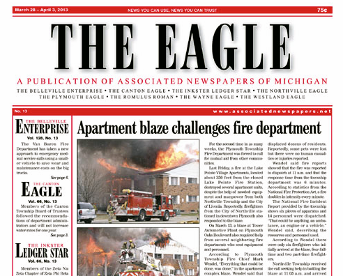 Eagle Front Page