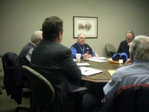 Paul Sincock reads to Fire  Advisory Board