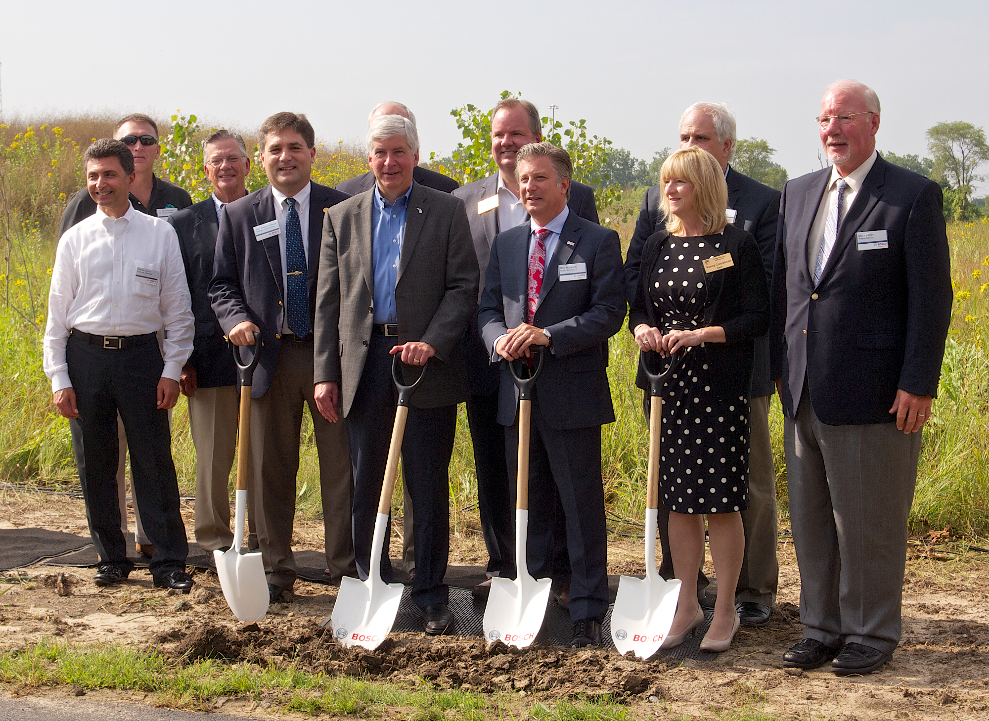 Bosch Ground Breaking Dignitaries shovel