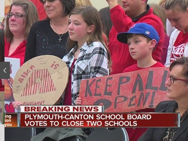 ALLEN SCHOOL CLOSES PLYMOUTH MI