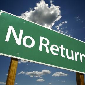 No Return Road Sign