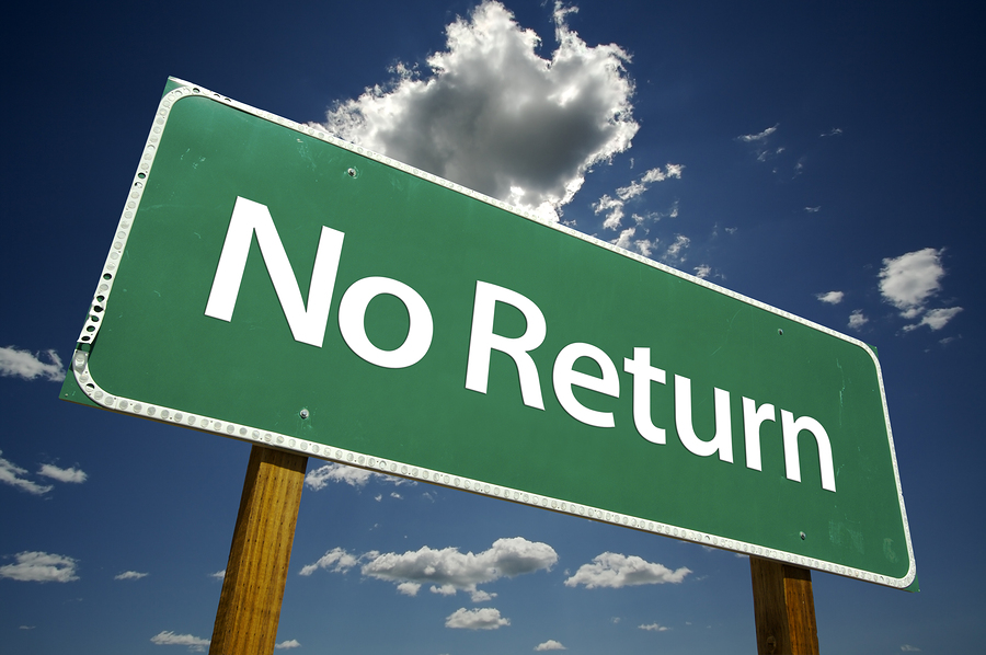 No Return Sign