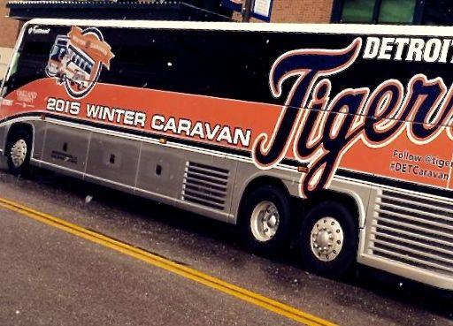 Detroit Tiges Caravan Bus