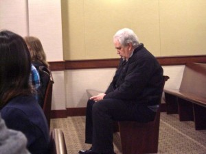 Ron Edwards in Court after business owner filed suit over his water bill. (Dec. 2013)