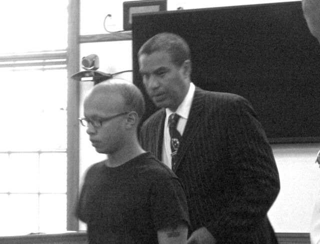 Wright Blake with defendant Rivera