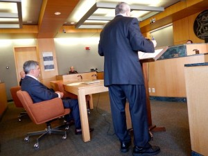 City of Detroit Deputy Corporate Counsel Chuck Raimi addresses court.