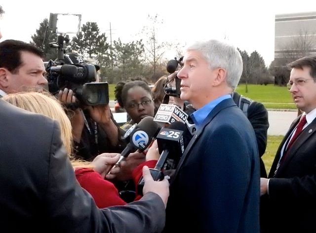 Rick Snyder at CW Groundbreaking Nov