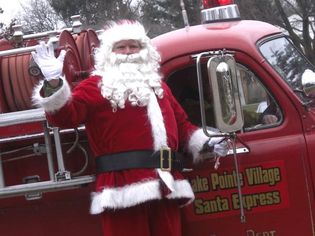 Santa in Lake Pointe Village