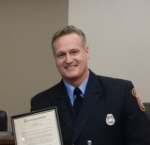 Plymouth Township firefighter James Harrell was named firefighter of the year.