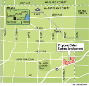 Salem Springs map
