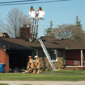 Plymouth house fire