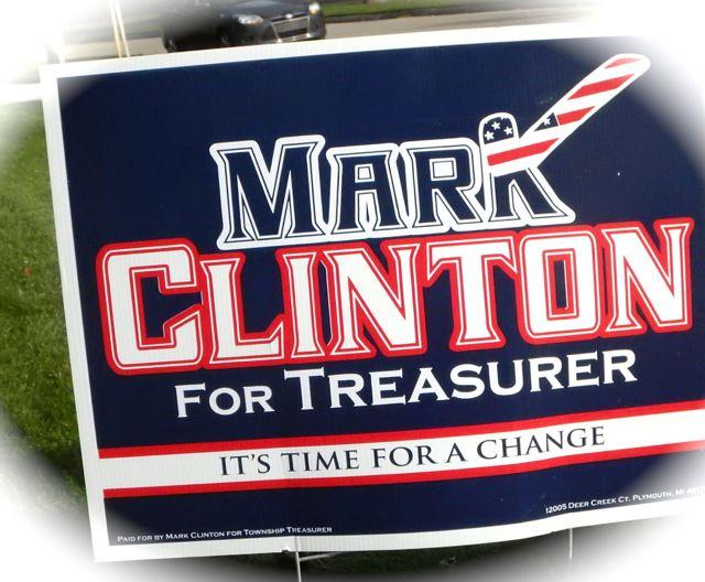 Clinton Campaign Sign