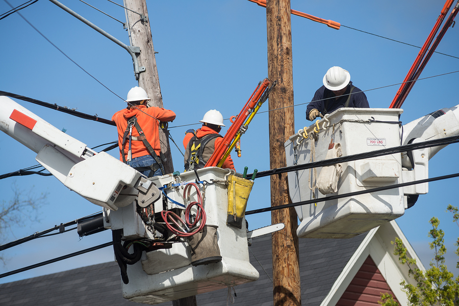 Line workers
