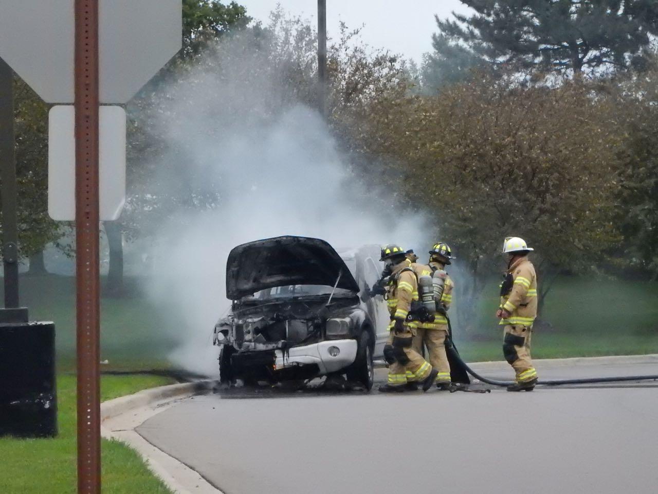 Northville Car Fire