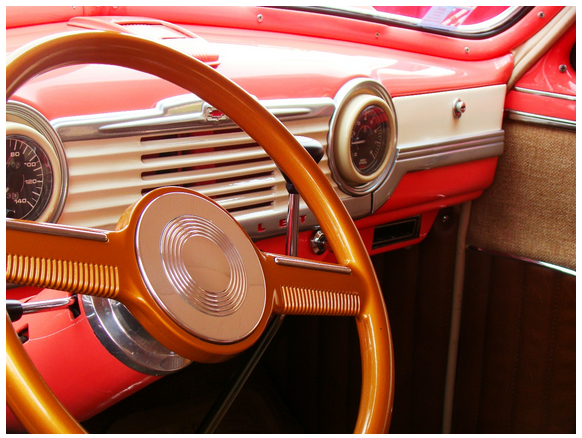 Vinage car interior