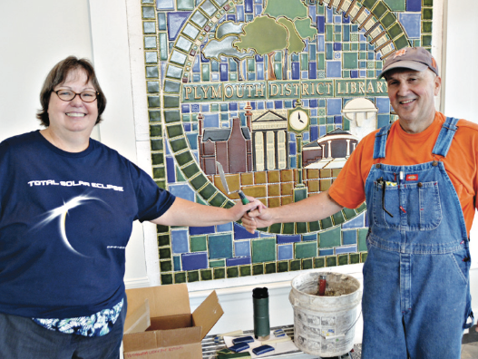 Pewabic Mural at Library