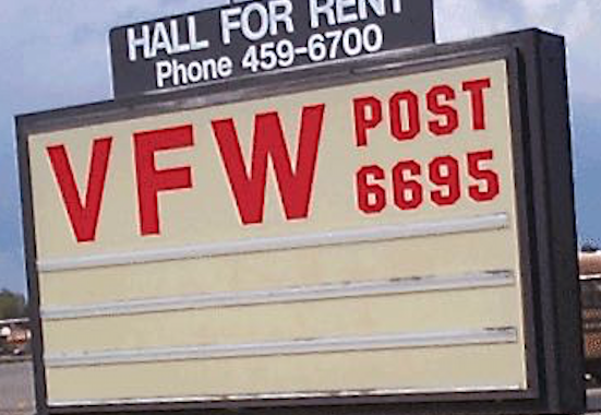 VFW Post sign