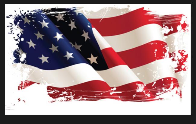 American Flag Grunge e