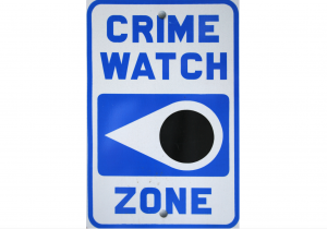 Crime Watch Zone sign